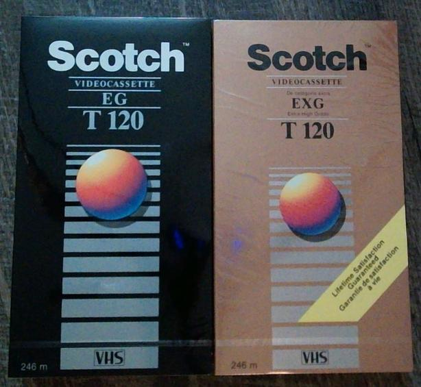 6 New T120 VHS Tapes