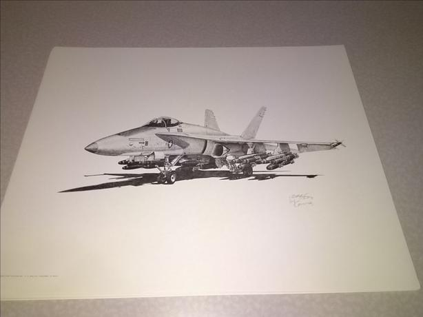 Aviation Art LE Prints F-18 Hornet F-14 Tomcat C-130 Hercules