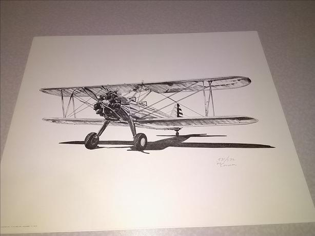 Aviation Art LE Prints F4U Corsair C-47 Dakota PT-17 Stearman