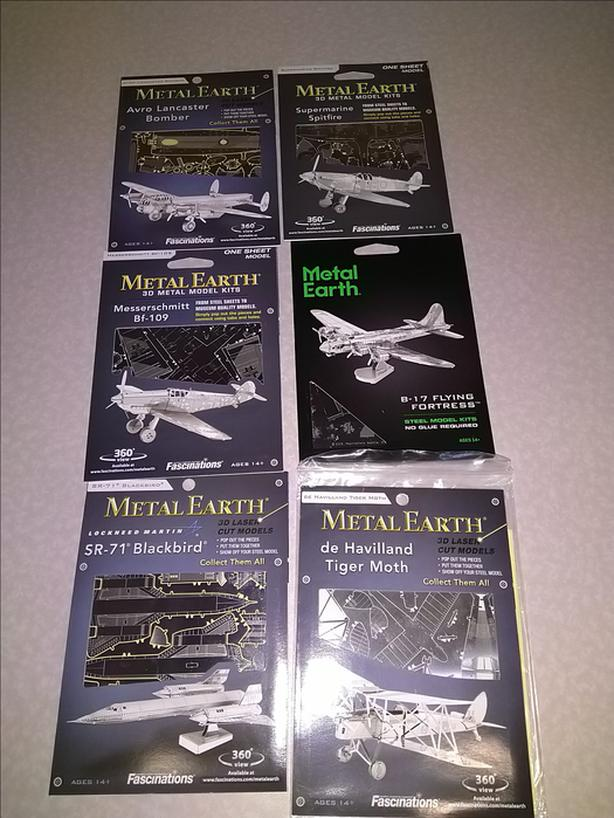 Metal Earth 3D Laser Cut Aircraft Airplane Model Kits