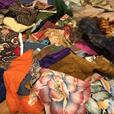 Large collection of fabric scraps for crafters