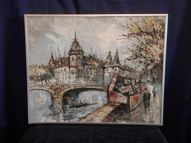 Louis Basset oil painting