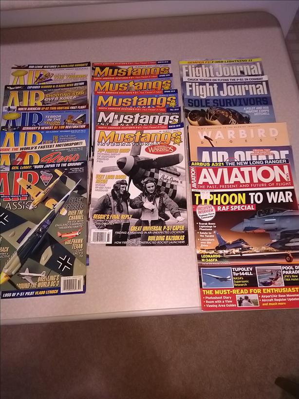 Mixed Lot Aviation Magazines Mustangs Flight Journal Aircraft Airplanes