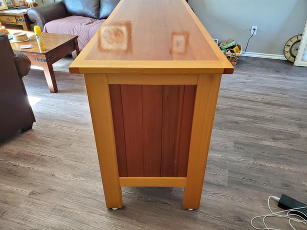 Display cabinet handmade locally