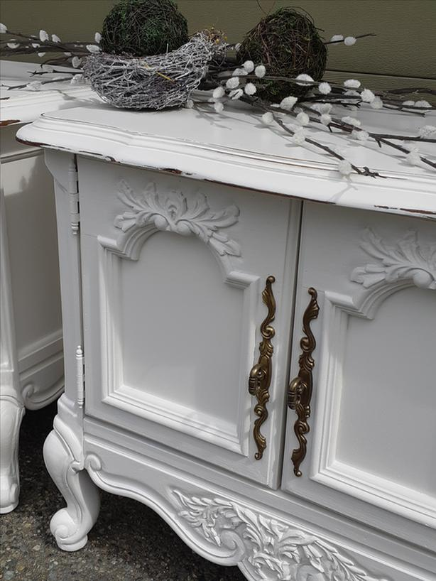 Pair of Beautiful French Country Bedside Tables