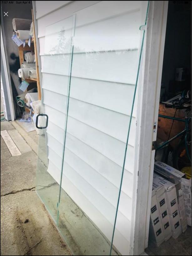 Shower glass panel & door