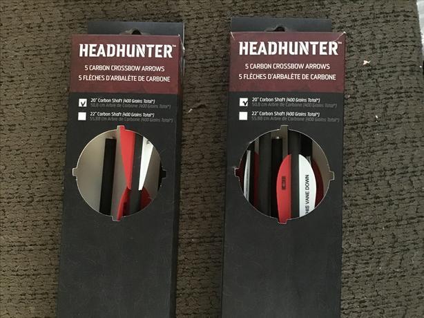 "Headhunter 20"" carbon shaft crossbow arrows, new in box!"