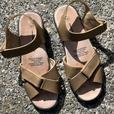 2 Pair Leather (insole & upper) Sandals - Ladies Size 9
