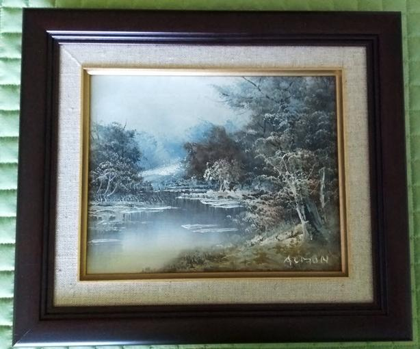 Almon Oil Painting ORIGINAL - $70 (Courtenay)