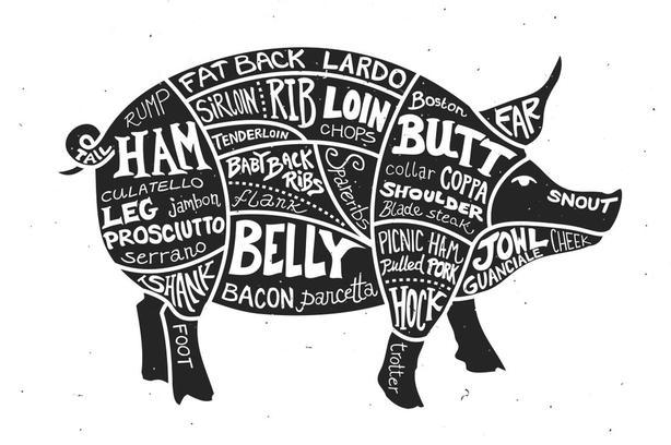 Sides of pork