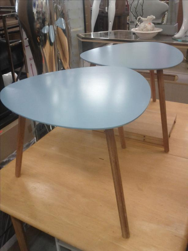 Pair of Blue End Tables
