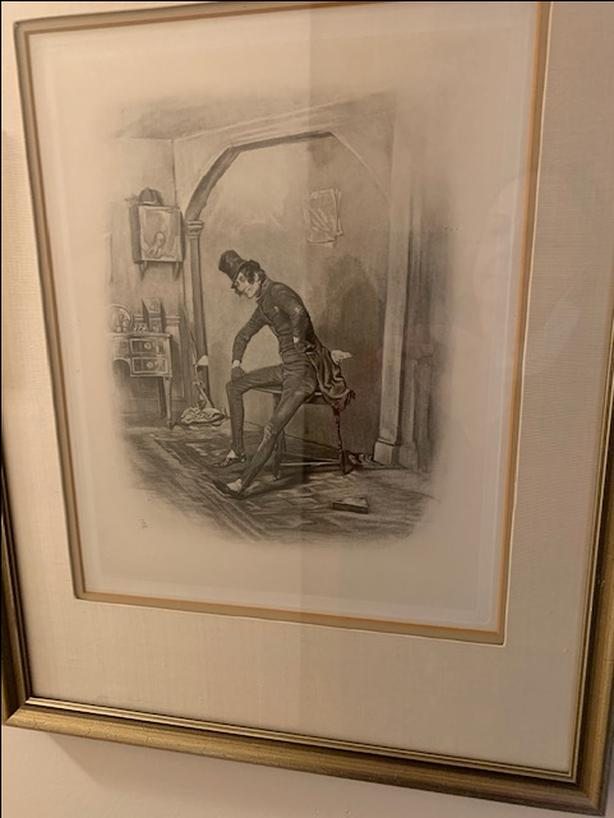 5 Framed Character Sketches from Dickens / Frederick Barnard (1884)