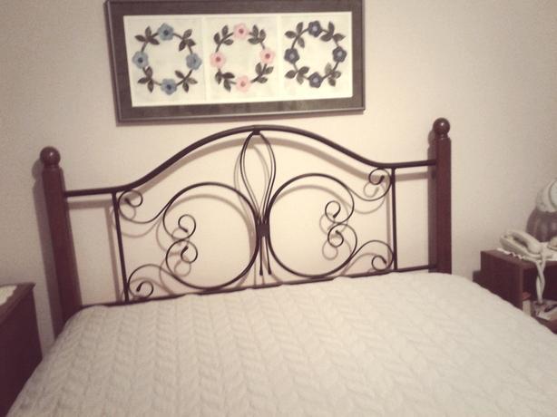 metal Queen headboard   and  queen/double metal bed frame