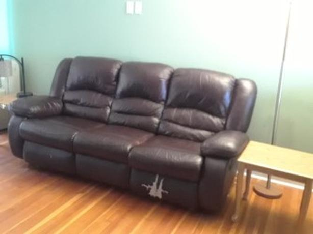 FREE: Leather Recliner Couch