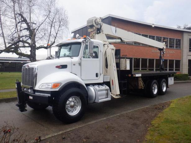 2019 Peterbilt 348 National Boom Crane Truck Flat Deck 20 Foot Air Brakes Diesel