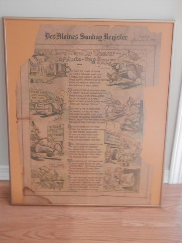 1920 Des Moines Sunday Register feature page