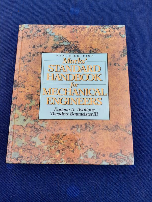 MARKS STANDARD HANDBOOK MECHANICAL ENGINEERS NINTH EDITION TEXTBOOK BOOK