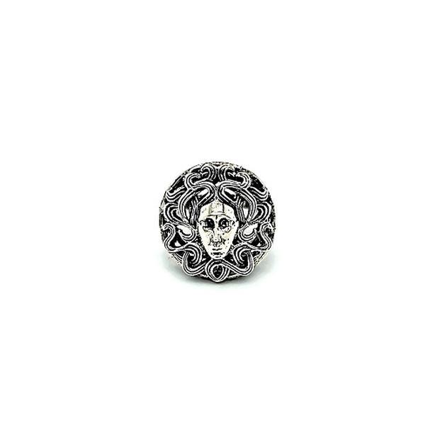 Sterling Silver Medusa Ring (I-37308)