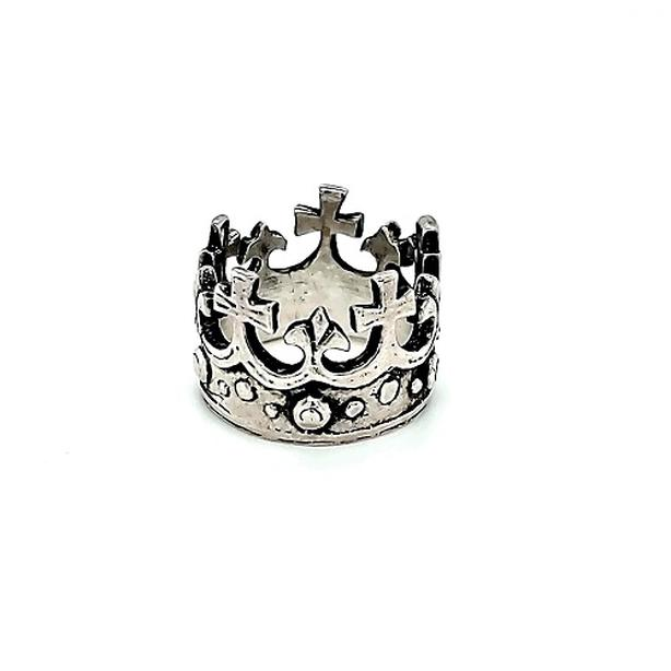 Sterling Silver Kings Coronation Ring (I-37485)