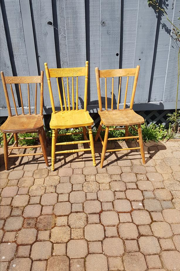 wooden chairs priced separately