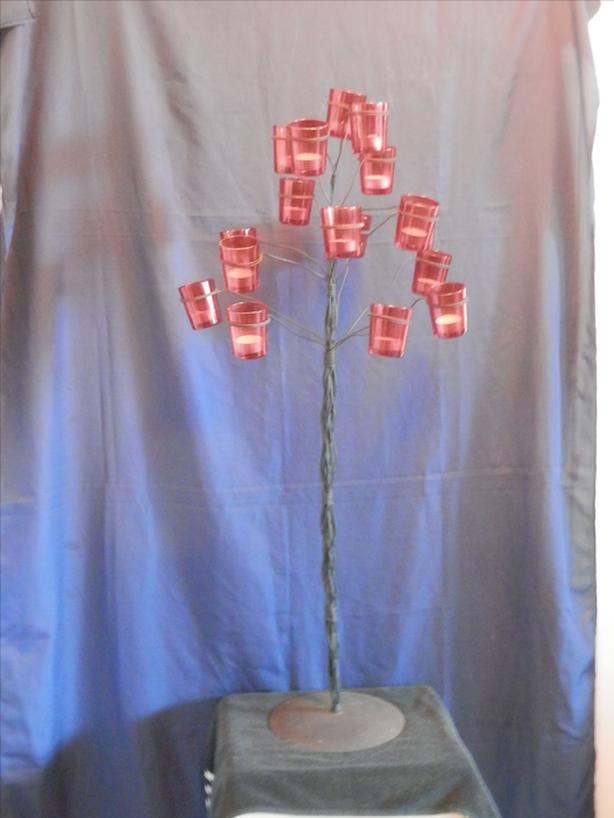 Iron Tree Candle Sconce