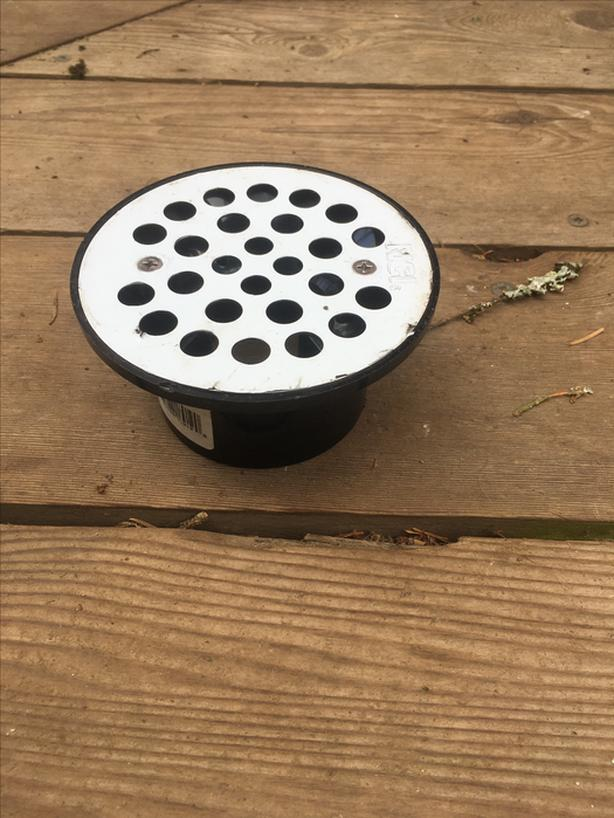 FREE: Fell off the back of a truck?  Drain filter - plastic