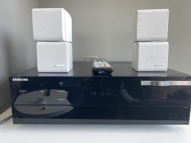 Samsung receiver with Bose speakers and a Denon Sub