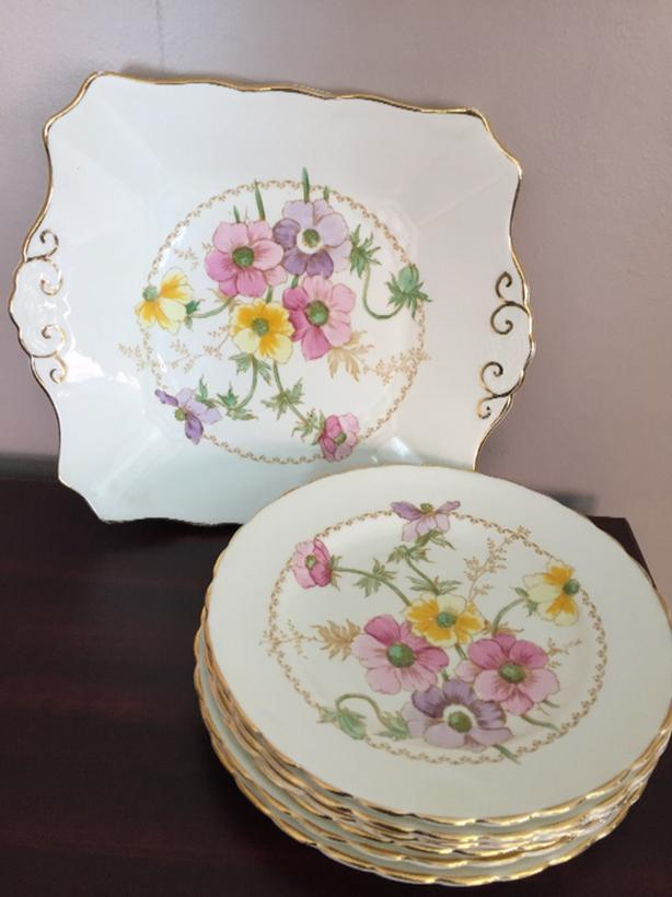Tea Time Tuscan Dessert Tray and Side Plates