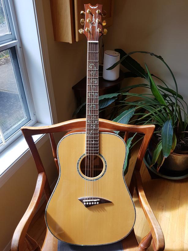 NOT your average Dean Dreadnought acoustic guitar.