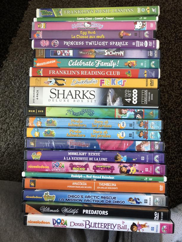 FREE: Free kids dvds must pick up must take all