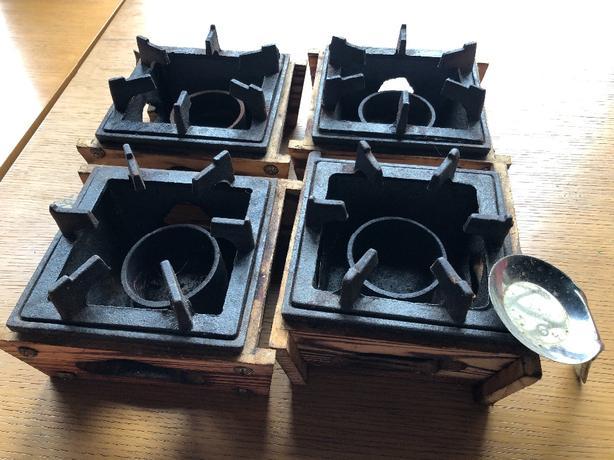 sukiyaki iron pot and cooking stove