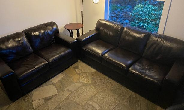 Urban Leather Couch and Loveseat