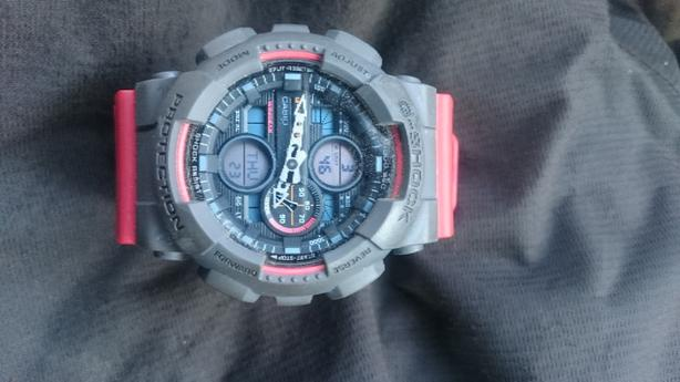 red mens casio G-shock watch