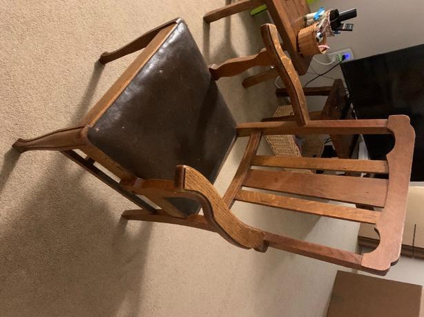 shaker style oak armchair