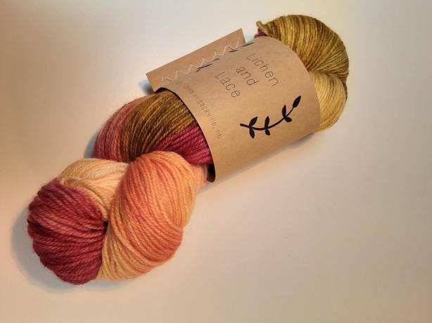 Lichen and Lace - 1 skein, Merino sock yarn