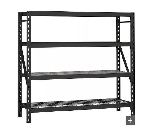 Steel racking for auto shop, garage or basement