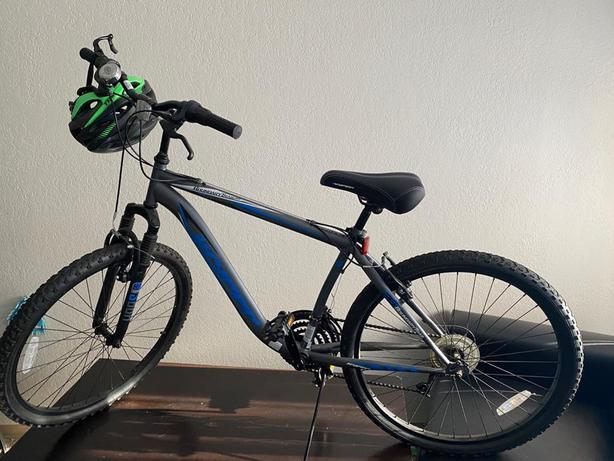 "26"" Hyper Bicycles Boundary Trail Black Front Suspension Men's Steel Frame MTB"