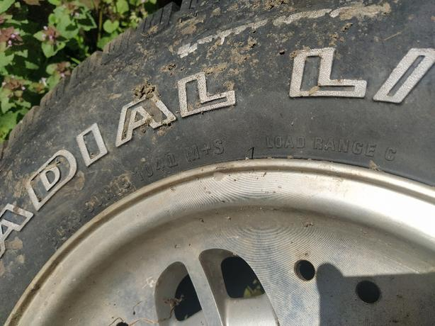 "FREE: 15"" wheel and AT tire"