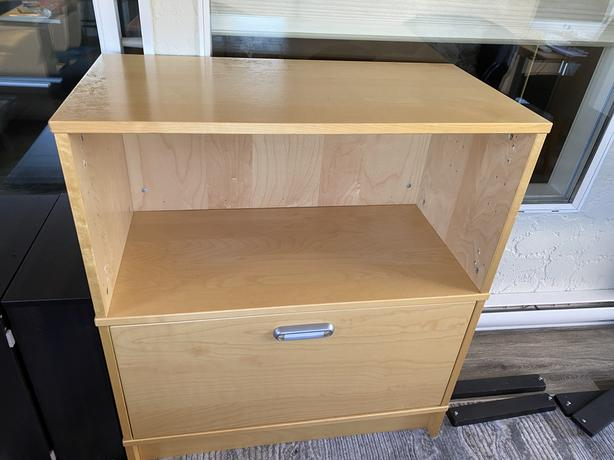 IKEA office table & file cabinets