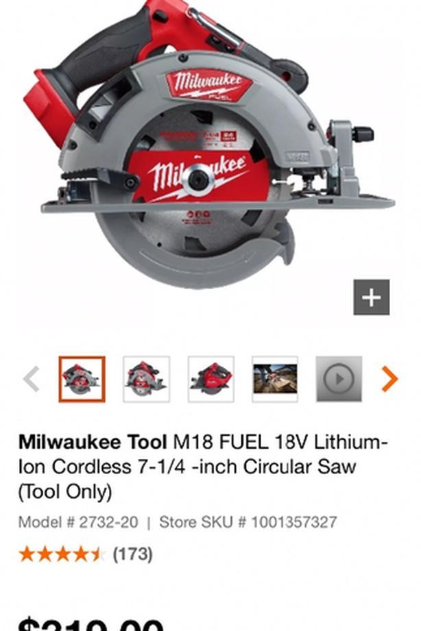 Milwaukee cordless 18volt circular saw