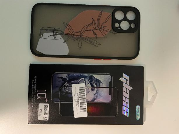 iphone 12 Pro Max Screen protector and case
