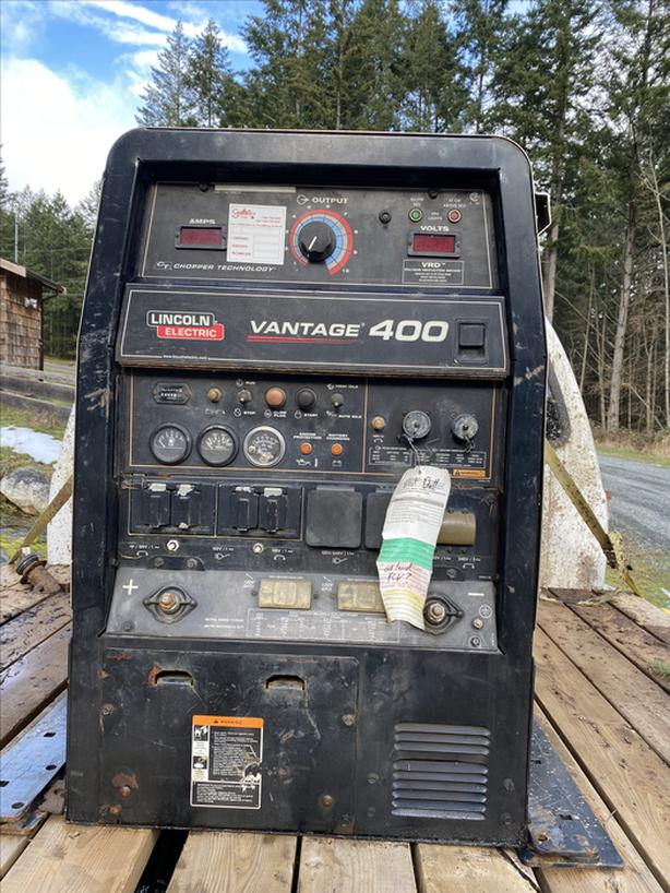Lincoln electric vantage 400 welder for sale