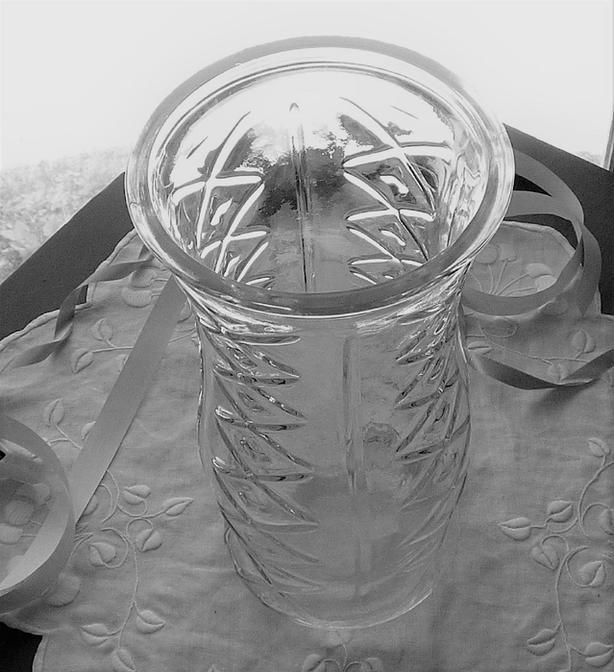 60's Depression Glass Vase E.O. Brody Co, Art Deco/Bohemian