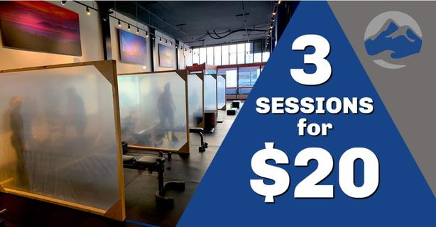 3 Personal Training Sessions for $20!