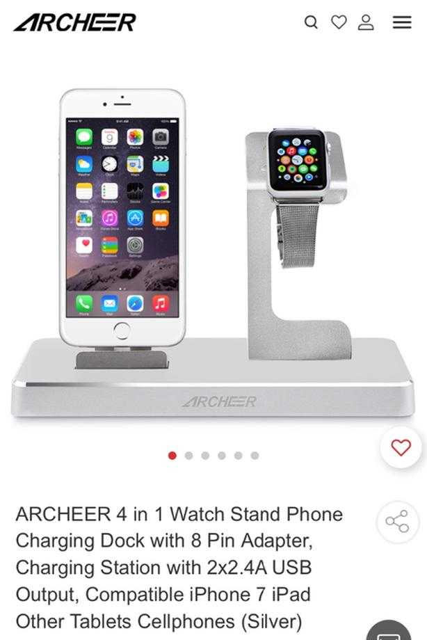 iPhone and Apple Charging Station