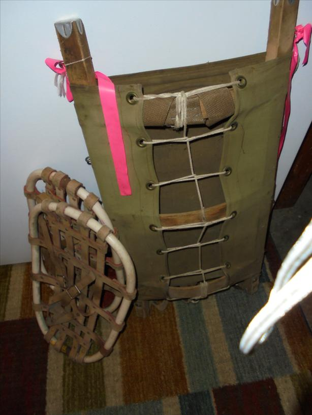 BACKPACK AND SNOWSHOES