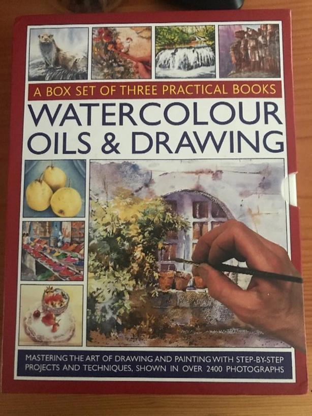New box set 3 books Drawing & Painting