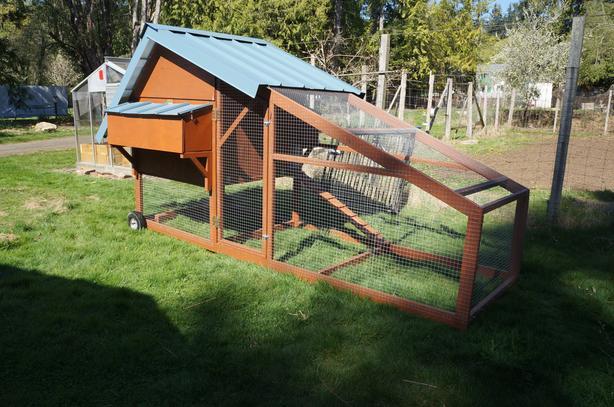 New Chicken tractor 12 feet x 4 feet base footprint