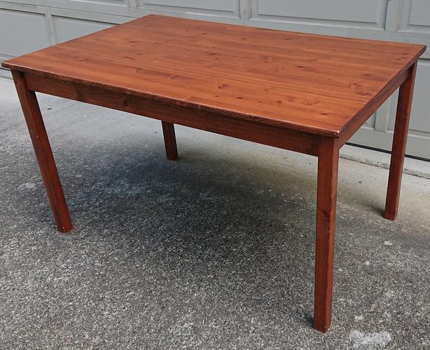 Ikea wood table