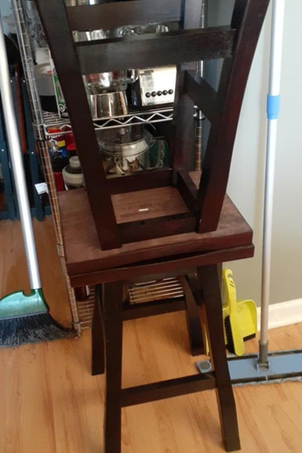 Hardwood bar stools